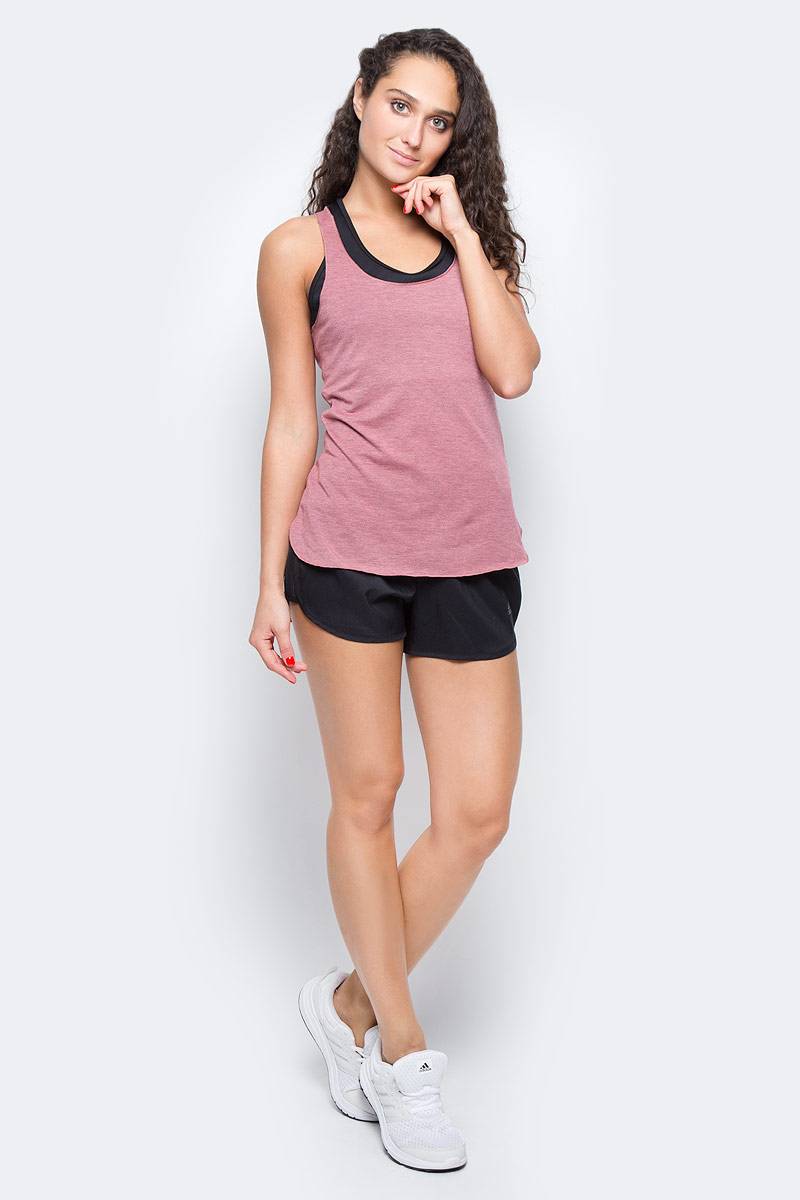 Майка для фитнеса женская Adidas Prime Tank, цвет: розовый. CD1068. Размер L (48/50)CD1068Удобная женская майка Adidas выполнена из полиэстера с добавлением эластана. Ткань с технологией climalite® быстро и эффективно отводит влагу с поверхности кожи, поддерживая комфортный микроклимат. Модель с глубоким круглым вырезом и перекрестными лямками, подарит вам комфорт во времяэнергичных тренировок, где требуется максимальная свобода и интенсивность движений.
