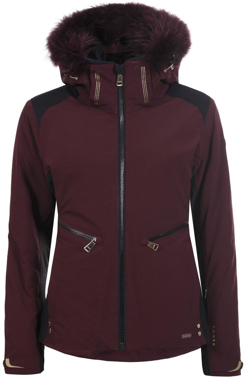 Куртка жен Luhta, цвет: бордовый. 838426393L7V_680. Размер 44 (52)838426393L7V_680