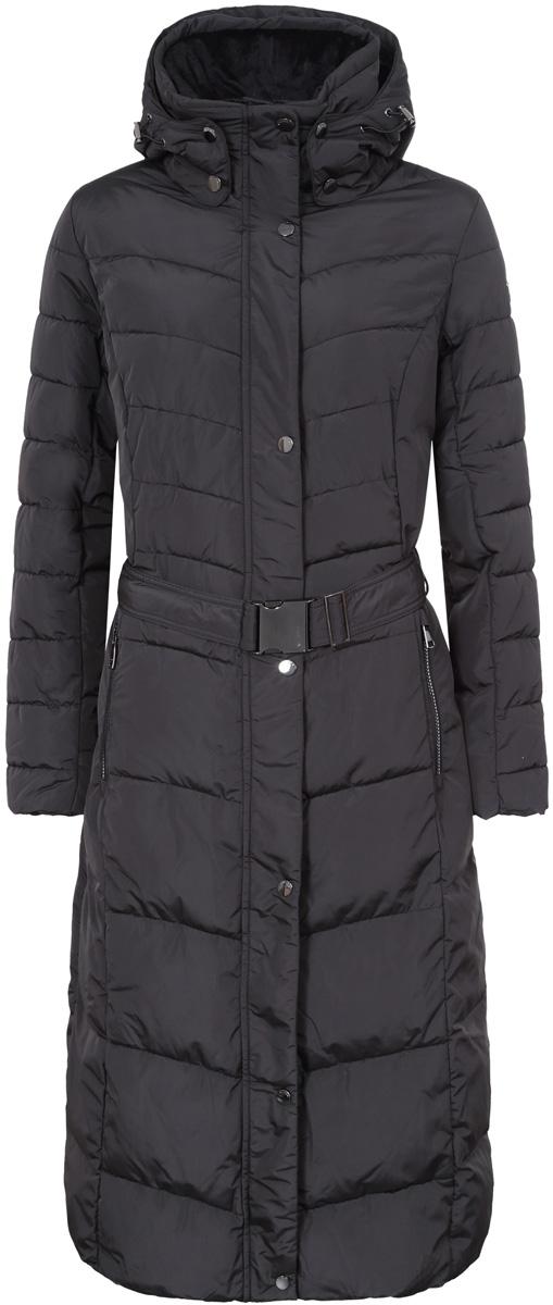 Пальто жен Luhta, цвет: черный. 838483396LV_990. Размер 42 (50)838483396LV_990