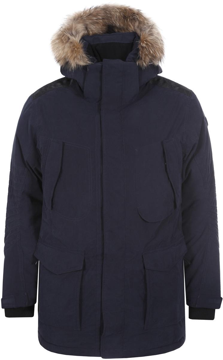 Пальто муж Luhta, цвет: темно-синий. 838501345L8V_390. Размер 56838501345L8V_390