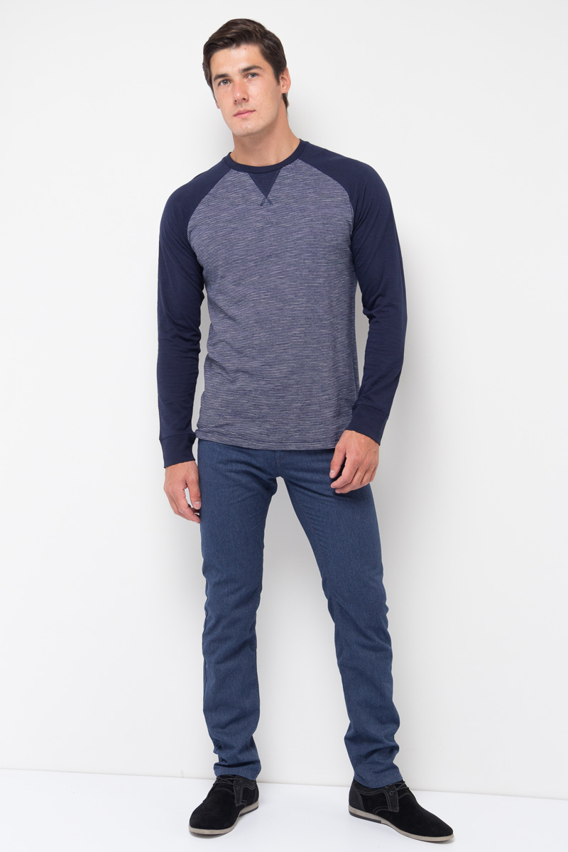 Джемпер муж Sela, цвет: темно-синий. T-211/119-7351. Размер S (46)T-211/119-7351