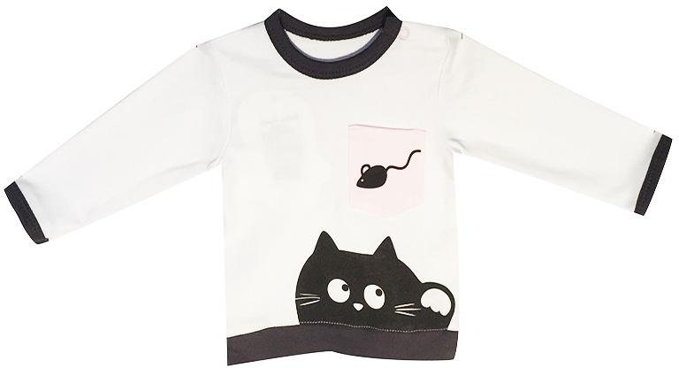 Джемпер детский КотМарКот Cats&mouse, цвет: светло-серый, белый. 7927. Размер 807927
