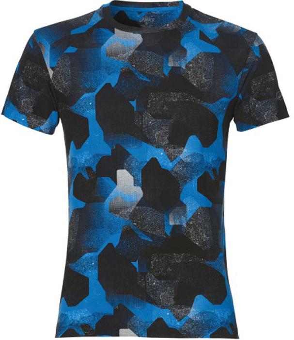 Футболка для бега мужская Asics Fuzex Printed SS Tee, цвет: синий, черный. 141240-1175. Размер XXL (56)141240-1175Футболка Asics Fuzex Printed SS Tee предназначена специально для бега тренировок. Эта футболка обеспечит вам безупречный комфорт и достижение высоких спортивных результатов благодаря мягкой, эластичной ткани, которая отводит влагу и поддерживает тело сухим. Плоские швы не натирают кожу и обеспечивают полный комфорт. Фасон рукавов-реглан элегантен и создает свободу движений. Футболка декорирована логотипом. Максимальный комфорт и уникальный спортивный образ!