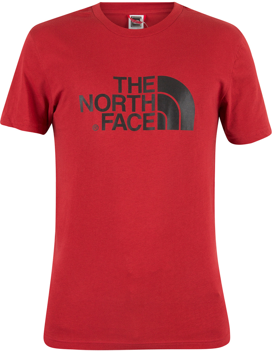 Футболка мужская The North Face M S/S Easy Tee, цвет: красный. T92TX3619. Размер M (46/48)T92TX3619Футболка мужская The North Face выполнена из натурального хлопка. Модель имеет стандартный крой, короткий рукав и круглый вырез горловины. Футболка оформлена логотипом бренда.