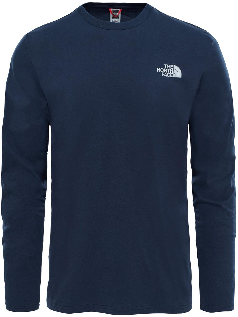 Лонгслив мужской The North Face M L/S Easy Tee, цвет: синий. T92TX1H2G. Размер M (46/48)T92TX1H2GМужская футболка с длинными рукавами The North Face свободного кроя с круглым вырезом горловины и длинными рукавами изготовлена из натурального хлопка. На груди лонгслив декорирован контрастным принтом в виде логотипа бренда. Модель создана для тех, кто предпочитает комфорт, моду и оригинальность.