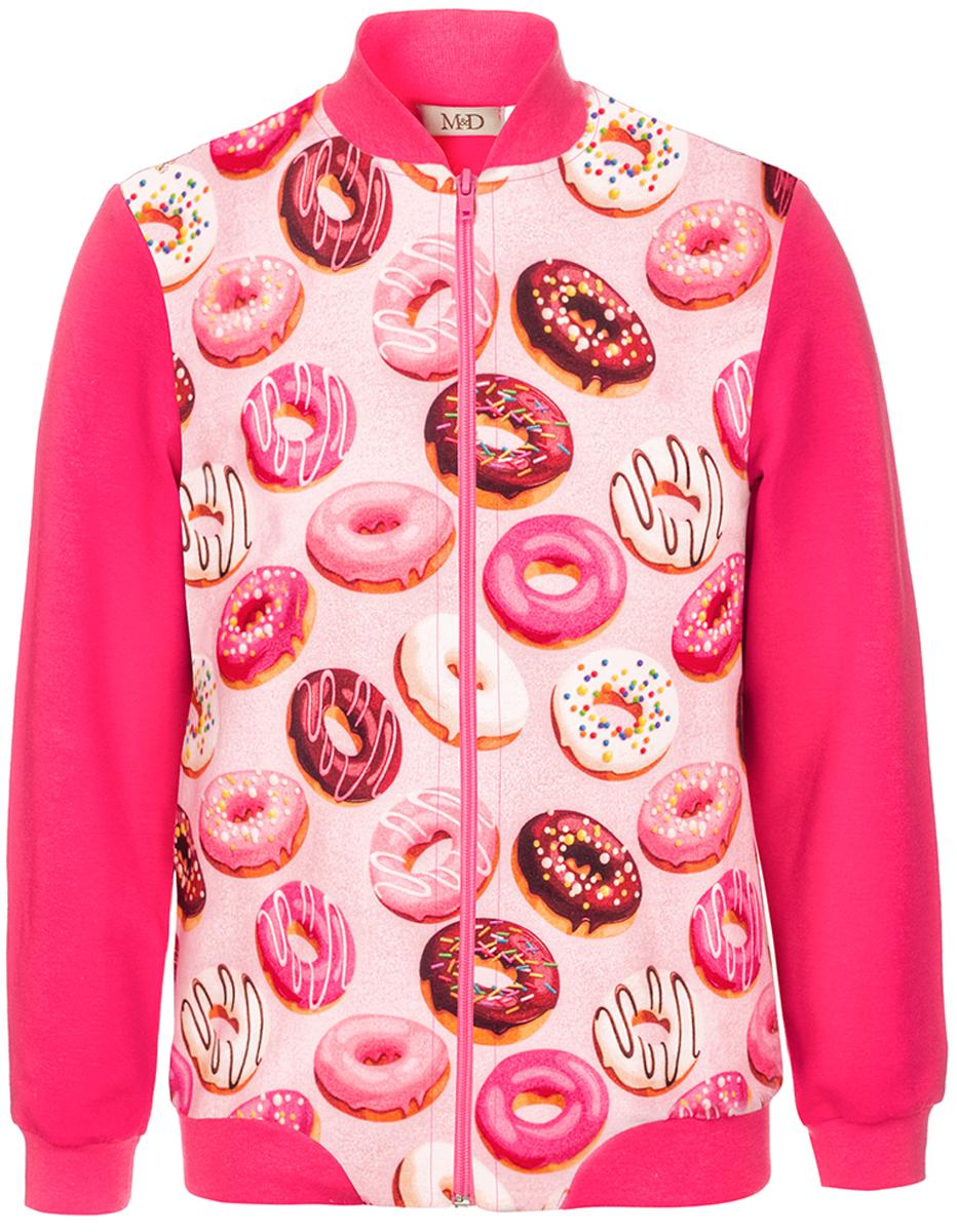 Джемпер для девочки M&D, цвет: фуксия. WKZ27016MS91. Размер 122WKZ27016MS91