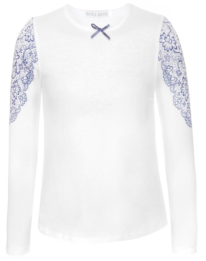 Блузка для девочки Nota Bene, цвет: белый. CJR27033A01. Размер 134CJR27033A01