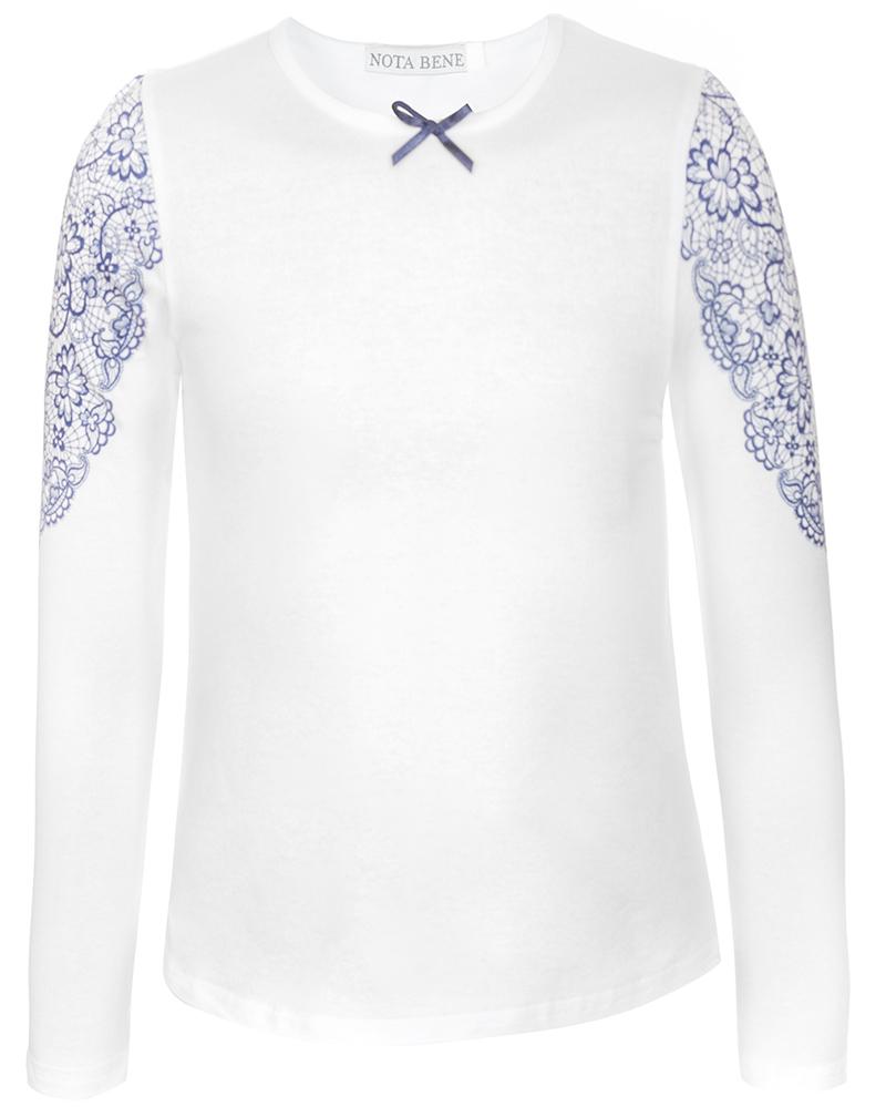 Блузка для девочки Nota Bene, цвет: белый. CJR27033B01. Размер 158CJR27033B01
