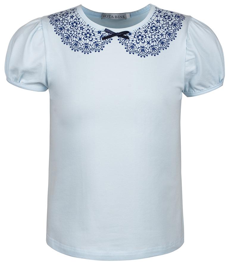 Блузка для девочки Nota Bene, цвет: голубой. CJR27030A10. Размер 134CJR27030A10