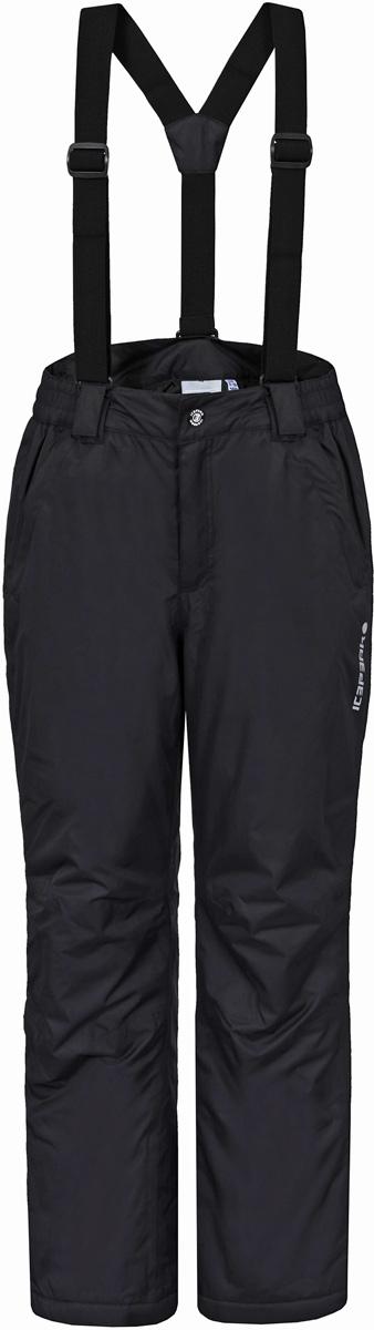 Брюки для мальчика Icepeak, цвет: черный. 851012501IV_990. Размер 140851012501IV_990