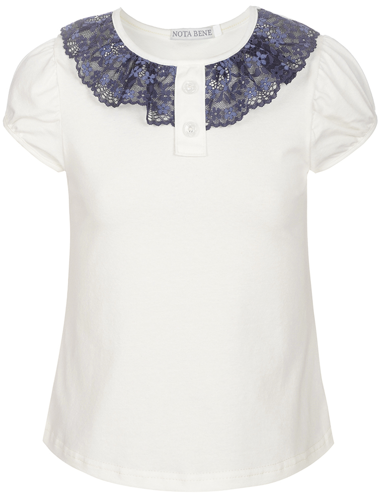 Блузка для девочки Nota Bene, цвет: молочный. CJR27032A17. Размер 128CJR27032A17
