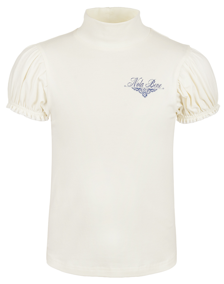 Блузка для девочки Nota Bene, цвет: молочный. CJR27041A17. Размер 140CJR27041A17