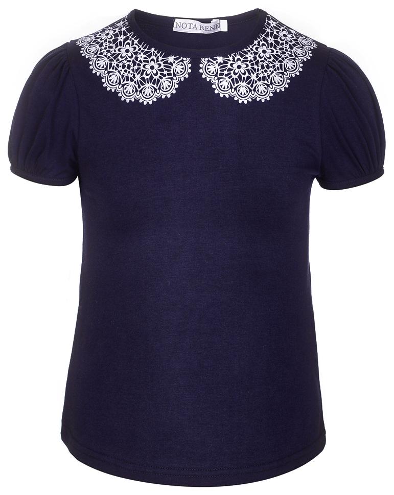 Блузка для девочки Nota Bene, цвет: темно-синий. CJR27030B29. Размер 146CJR27030B29