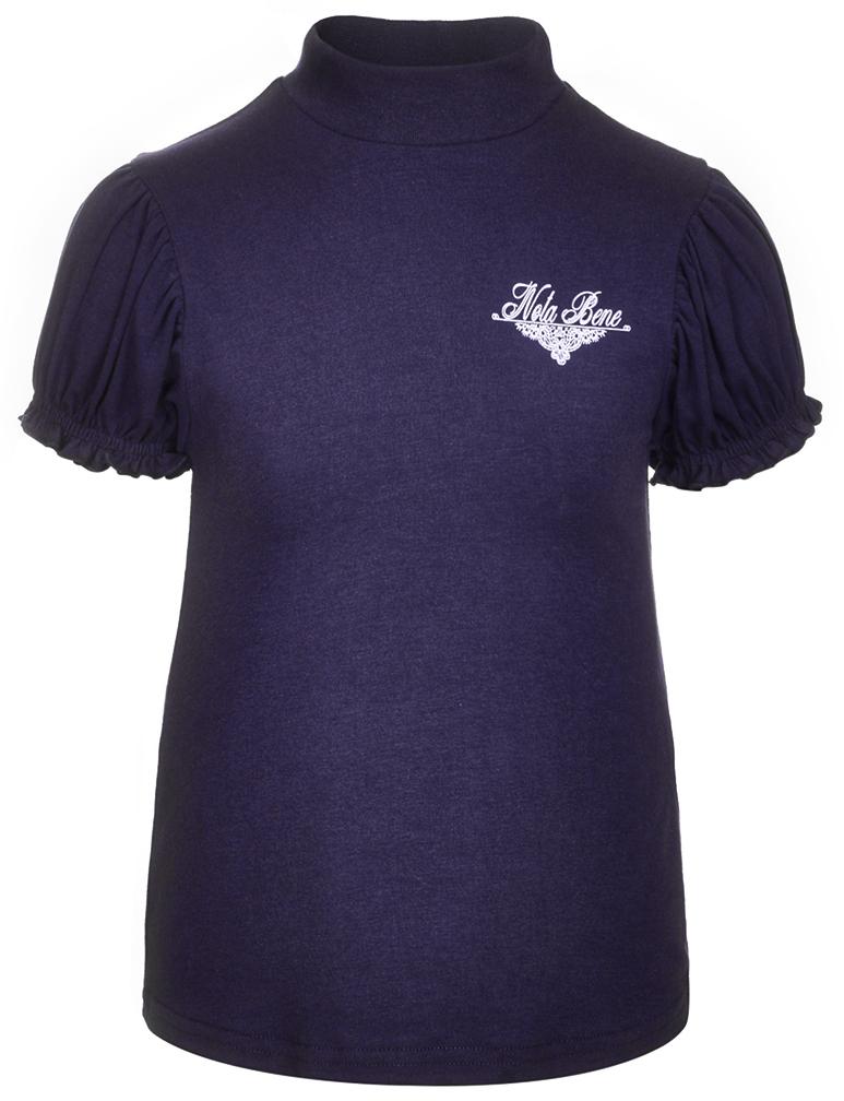 Блузка для девочки Nota Bene, цвет: темно-синий. CJR27041A29. Размер 122CJR27041A29