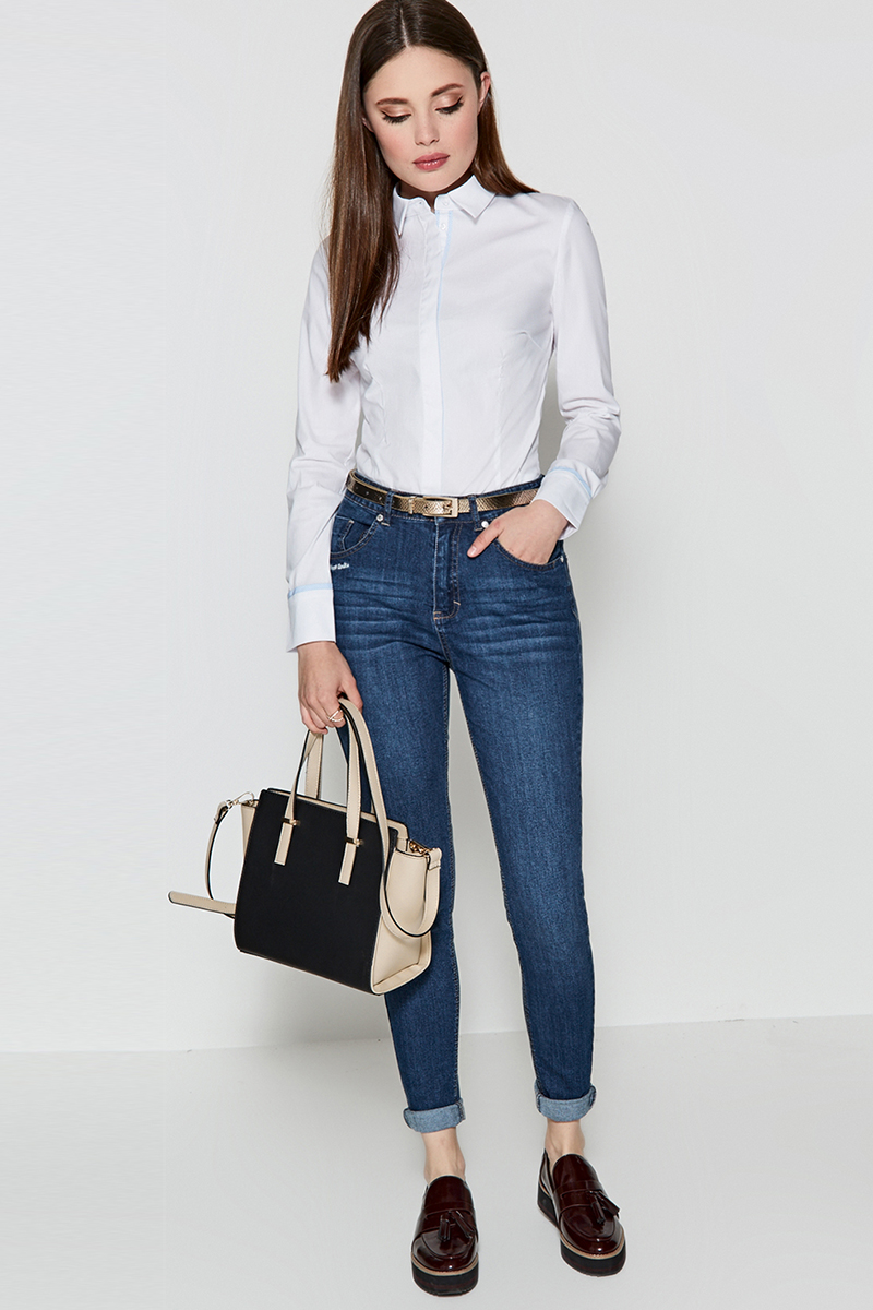Блузка женская Concept Club Cowa, цвет: белый. 10200260162. Размер XL (50)10200260162