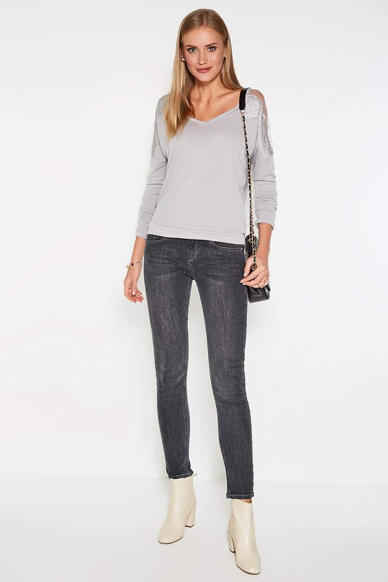 Джемпер женский Concept Club Lelantos, цвет: светло-серый. 10200100133. Размер XL (50)10200100133