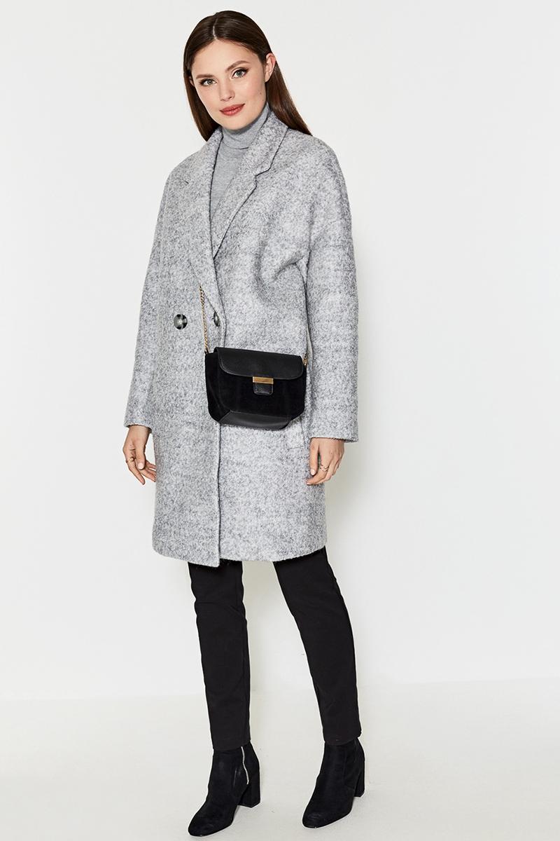 Пальто женское Concept Club Kirao, цвет: серый. 10200610033. Размер XXS (40)10200610033