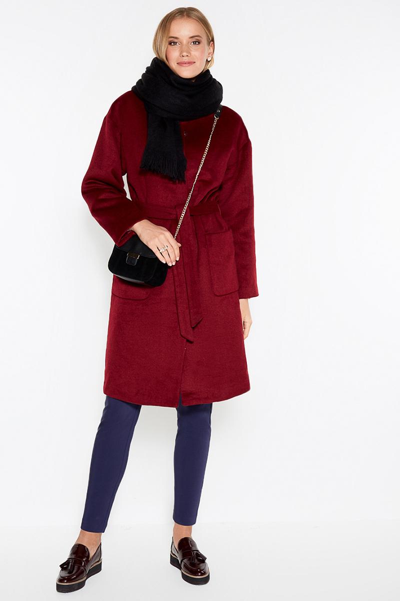 Пальто женское Concept Club Tosco, цвет: бордовый. 10200610031. Размер XL (50)10200610031