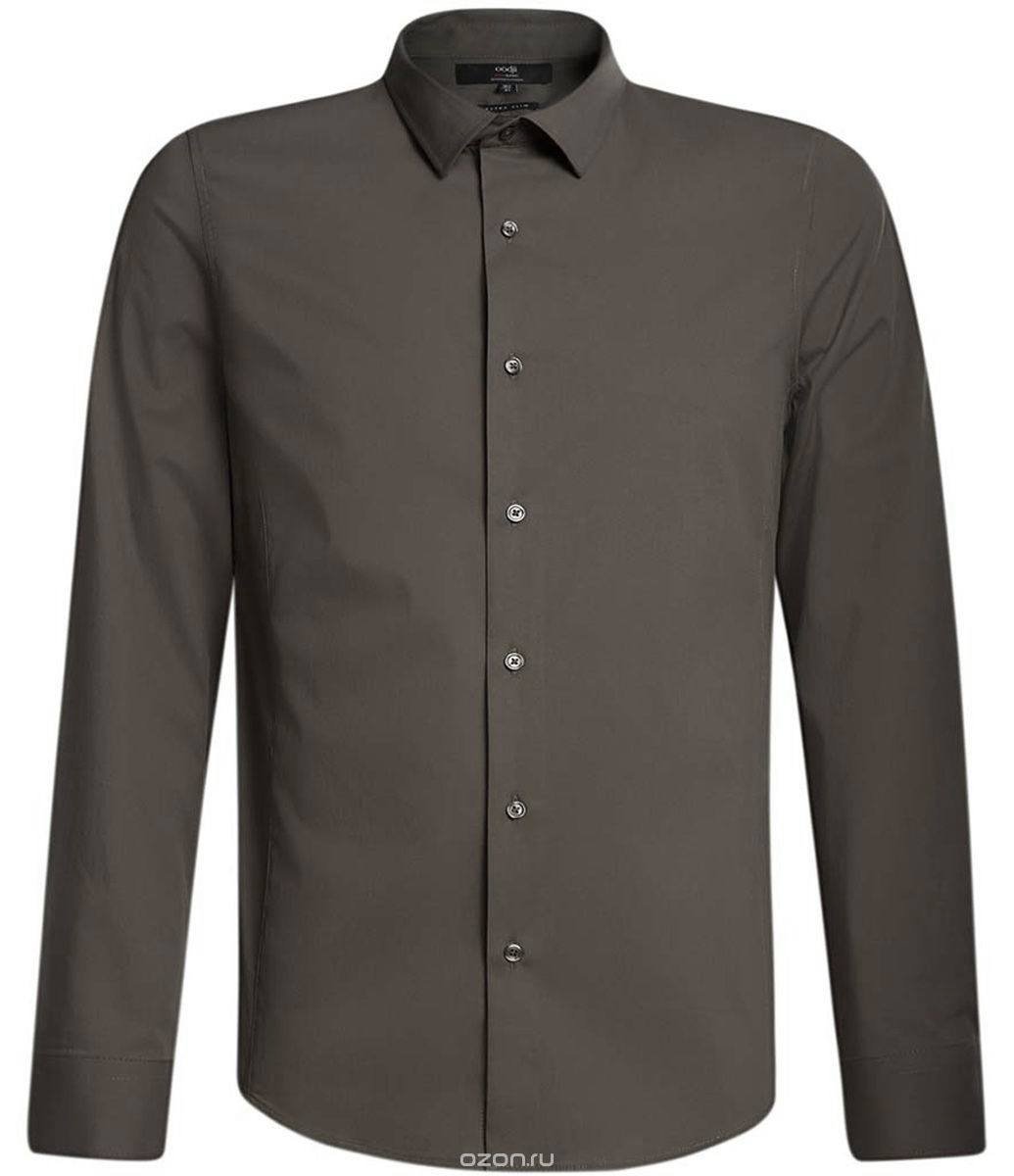 Рубашка мужская oodji Basic, цвет: хаки. 3B140000M/34146N/6600N. Размер 41-182 (50-182)3B140000M/34146N/6600NМужская рубашка oodji Basic изготовлена из хлопка с добавлением полиамида и эластана. Классический воротничок с острыми углами, манжеты с пуговицами, застежка на пуговицы спереди по всей длине. У рубашки слега приталенный силуэт, ее можно носить заправленной или навыпуск. Оптимальное соотношение хлопка и синтетики: не мнется, прекрасно держит форму и дает коже возможность дышать. В такой рубашке комфортно в течение всего дня. Элегантная рубашка станет основой для делового гардероба. Она хорошо сочетается с прямыми и зауженными брюками. Для создания строгого образа рубашку можно дополнить классическим или спортивным пиджаком, или же в качестве второго слоя выбрать трикотажный кардиган. С этой рубашкой вы можете создать разные деловые луки. Они всегда будут отвечать строгому дресс-коду. Из обуви предпочтение рекомендуется отдавать классическим моделям туфель.
