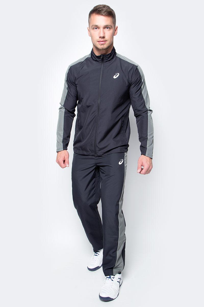 Костюм спортивный мужской Asics Suit Essential, цвет: черный. 142892-0904. Размер S (46)142892-0904В костюме Asics Suit Essential вы будете выглядеть стильно, а чувствовать себя невероятно комфортно. Материал гарантирует легкость движений, как при занятиях спортом, так и в повседневной носке. Ветровка с длинными рукавами застегивается спереди на молнию. Модель дополнена двумя прорезными карманами спереди. Спортивные брюки имеет широкую эластичную резинку на поясе.