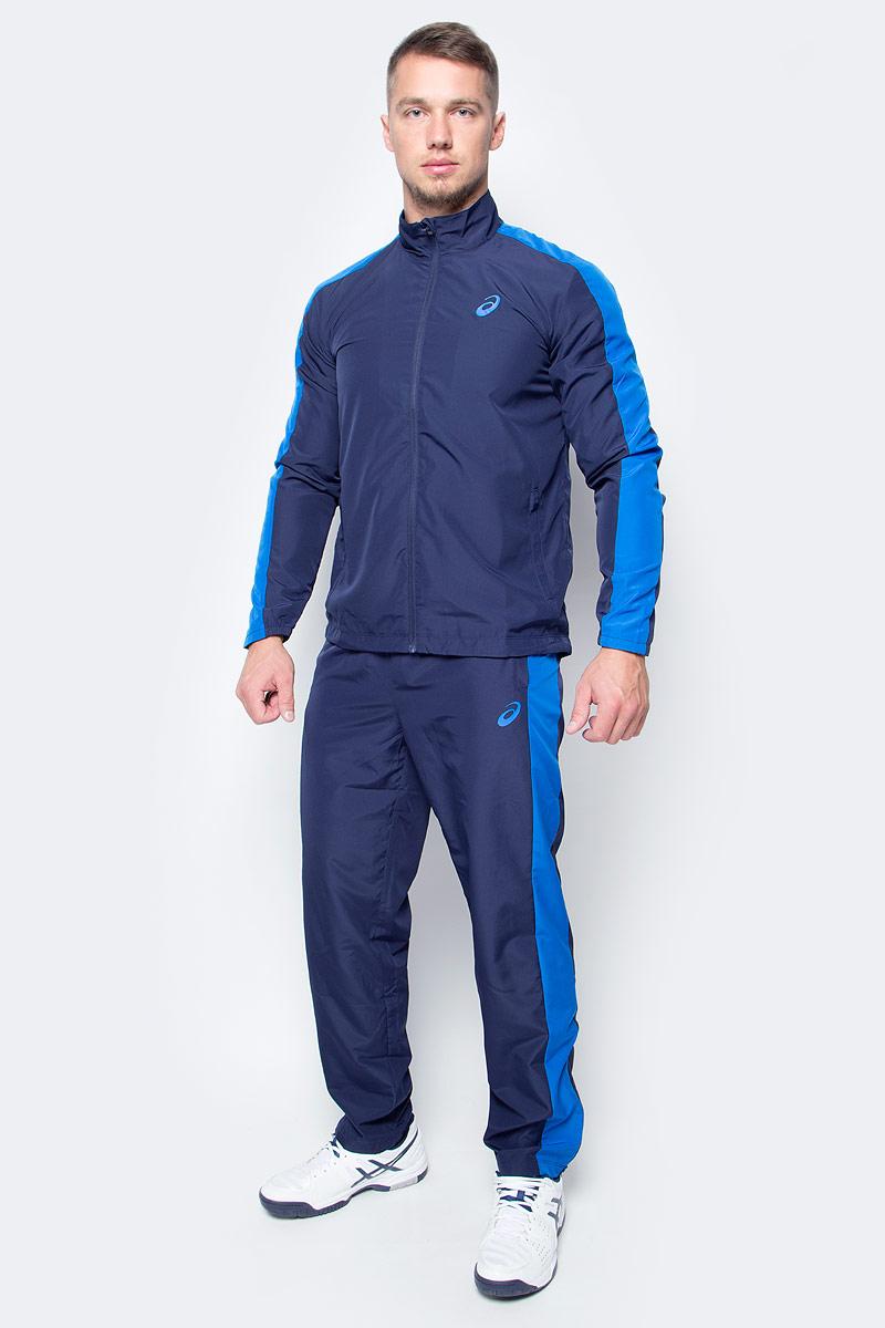 Костюм спортивный мужской Asics Suit Essential, цвет: синий. 142892-0891. Размер L (50/52)142892-0891В костюме Asics Suit Essential вы будете выглядеть стильно, а чувствовать себя невероятно комфортно. Материал гарантирует легкость движений, как при занятиях спортом, так и в повседневной носке. Ветровка с длинными рукавами застегивается спереди на молнию. Модель дополнена двумя прорезными карманами спереди. Спортивные брюки имеет широкую эластичную резинку на поясе.