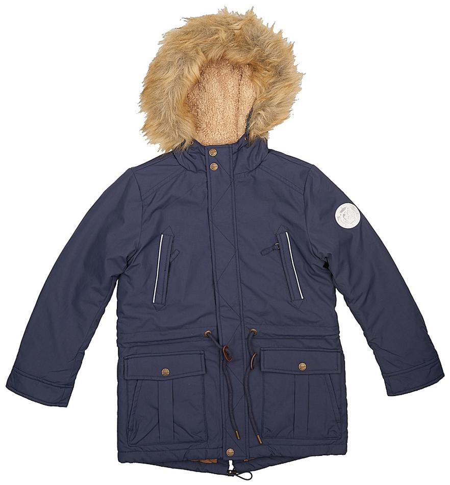 Куртка для мальчиков Sela, цвет: темно-синий. Cp-826/385-7311. Размер 140Cp-826/385-7311