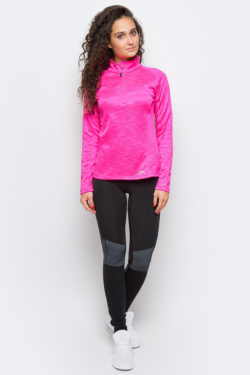 Толстовка женская Trespass Fairford, цвет: розовый. FAFLFLK10001. Размер L (48)FAFLFLK10001Отличная женская толстовка Trespass Fairford из 100% полиэстера с короткой молнией. Модель с длинными рукавами и воротником-стойкой.