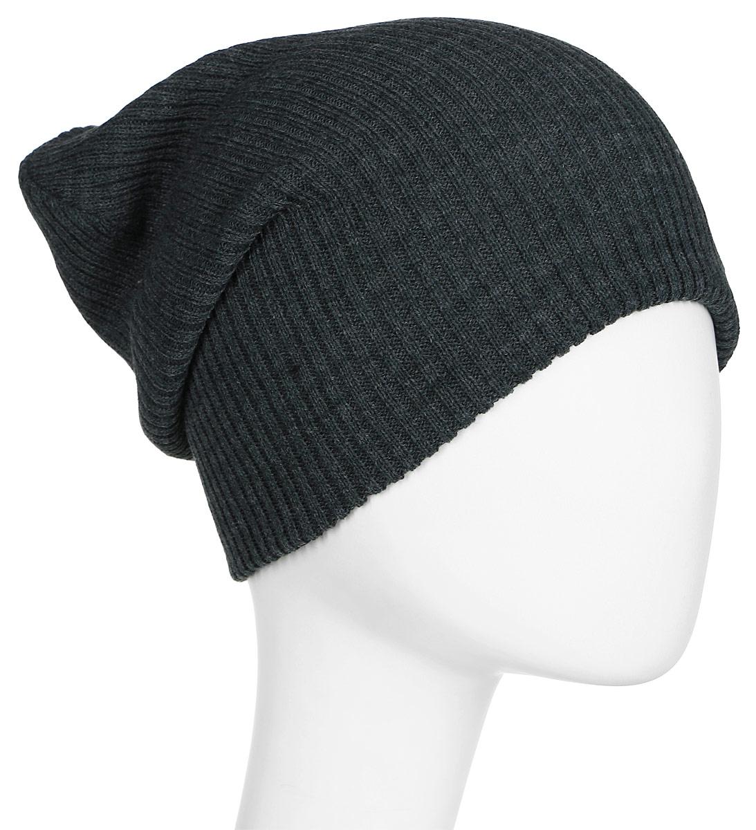 Шапка Asics Training Essential Beanie, цвет: серый, серо-зеленый. 146817-4004. Размер 56/58146817-4004Демисезонная шапка