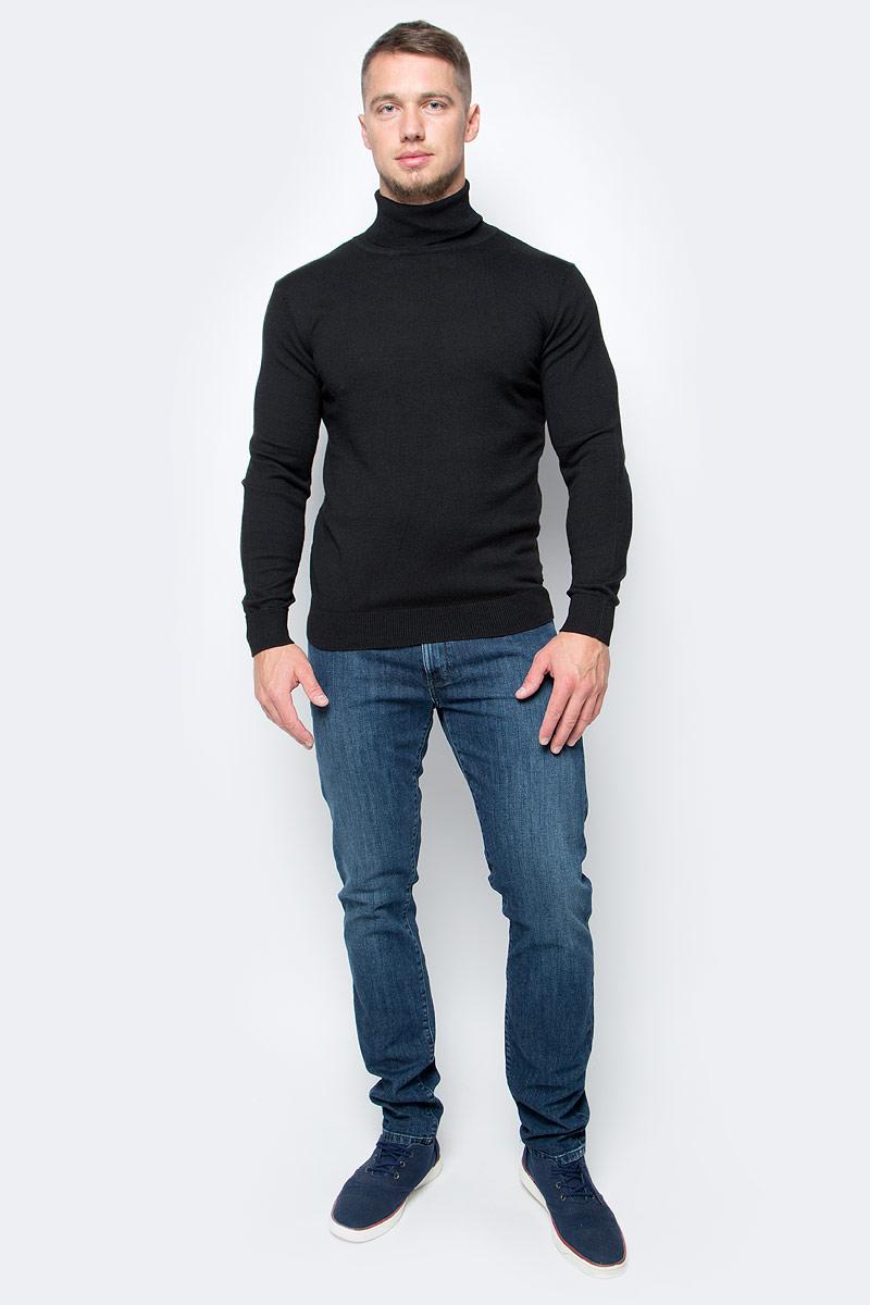 Водолазка мужская Baon, цвет: черный. B727701_Black. Размер M (48)B727701_BlackПозаботьтесь о своем тепле и комфорте - выберите качественную модель, призванную защитить вас от мороза и ветра. Водолазка от Baon, изготовленная из трикотажа с добавлением натуральной шерсти, создана специально для холодной погоды. Эта базовая модель превосходно сочетается как с классикой, так и с повседневной одеждой, позволяя вам выглядеть и чувствовать себя на все сто!