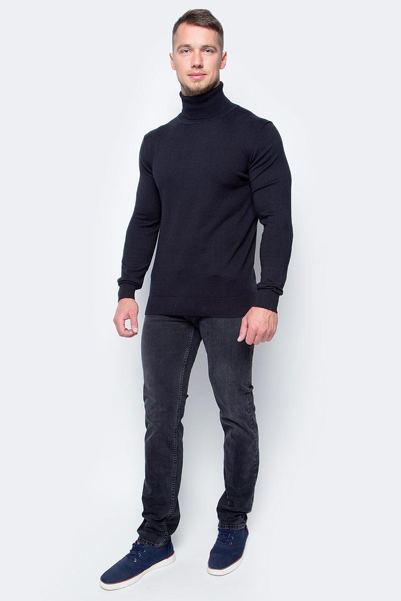 Водолазка мужская Baon, цвет: черный. B727702_Black. Размер S (46)B727702_BlackБазовая водолазка от Baon - лаконичная по своему дизайну модель, которая идеально дополнит как повседневные, так и деловые аутфиты. Изделие выполнено из высококачественного хлопкового трикотажа. Этот материал комфортен в ношении и весьма прост в уходе.