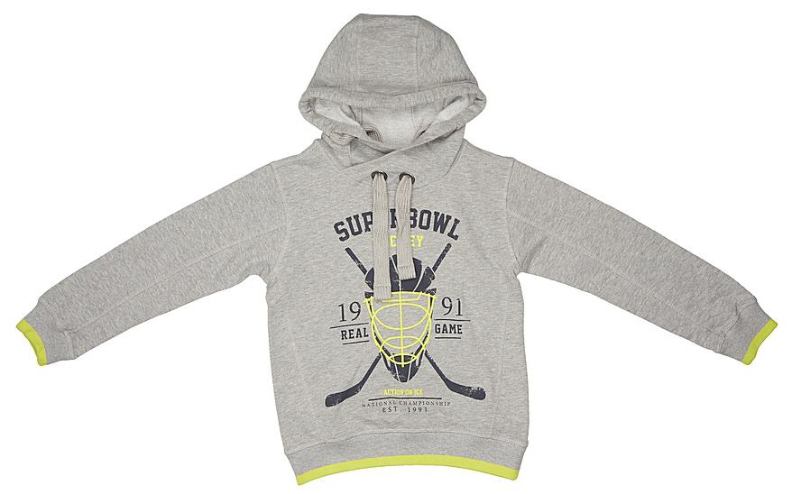 Джемпер для мальчиков Sela, цвет: серый. St-813/059-7330. Размер 134St-813/059-7330