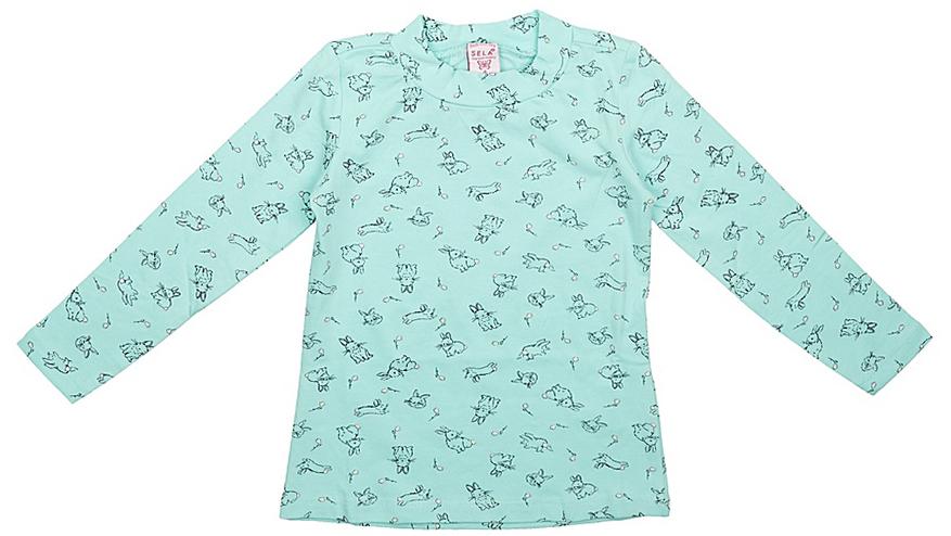 Джемпер для девочек Sela, цвет: светло-зеленый. Tt-511/420-7351. Размер 104Tt-511/420-7351