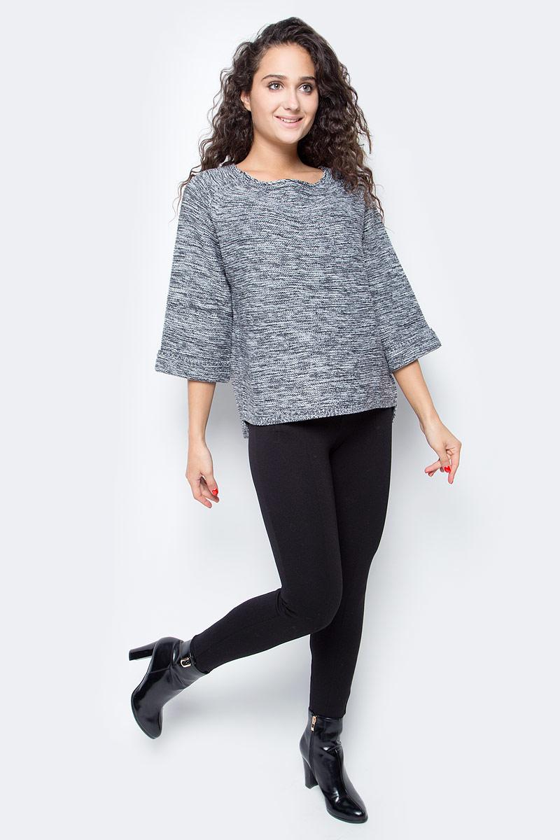 Джемпер женский Baon, цвет: серый. B137559_Zircon Melange. Размер M (46)B137559_Zircon Melange