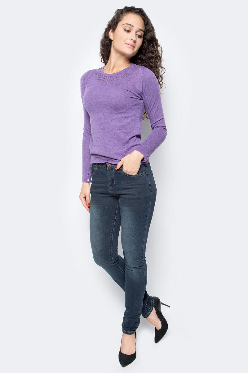 Джемпер женский Baon, цвет: сиреневый. B137533_Crocus. Размер S (44)B137533_Crocus