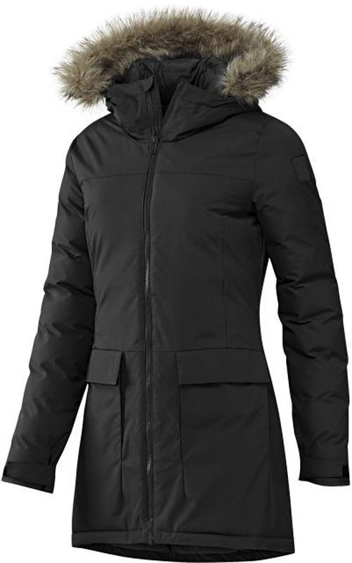 Куртка жен Adidas W Xploric Parka, цвет: черный. BQ6803. Размер S (42/44)BQ6803Женская парка adidas XPLORICУютная женская парка для повседневного образа зимой. Adidas.net.ua представляет модель из плотного трикотажа с наполнителем из теплого синтетического пуха что дополнена оторочкой из искусственного меха, удобными карманами и женственным кроем• Синтетический пух• Отстегивающийся мех на капюшоне• Водоотталкивающий материал• Высокий ворот• Манжет на липучке