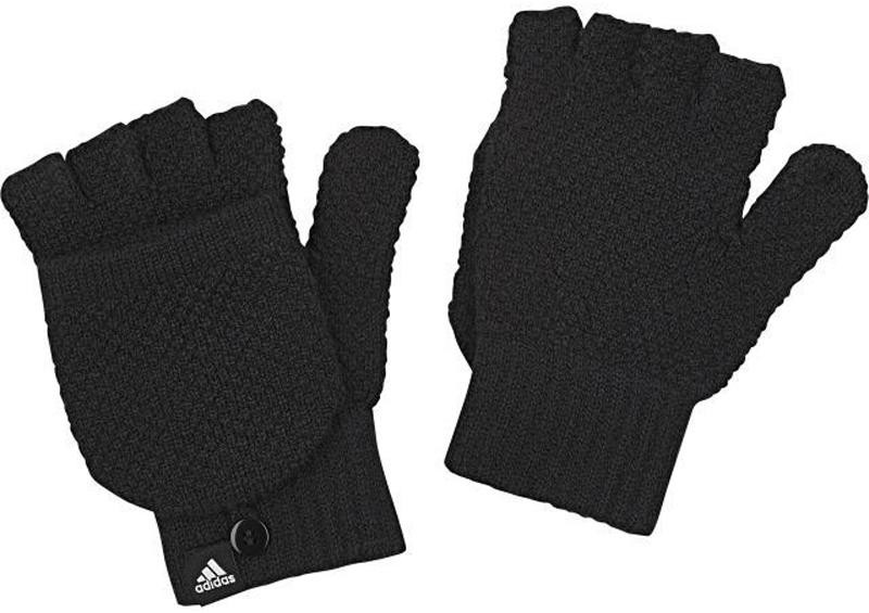 Перчатки жен Adidas W Clsc Gloves, цвет: черный. BR9978. Размер L (22)BR9978Перчатки жен.• Логотип, сочетающийся по цвету:• Полуперчатки с дополнительнымиснимающимися пальцами для использованиясенсорного экрана