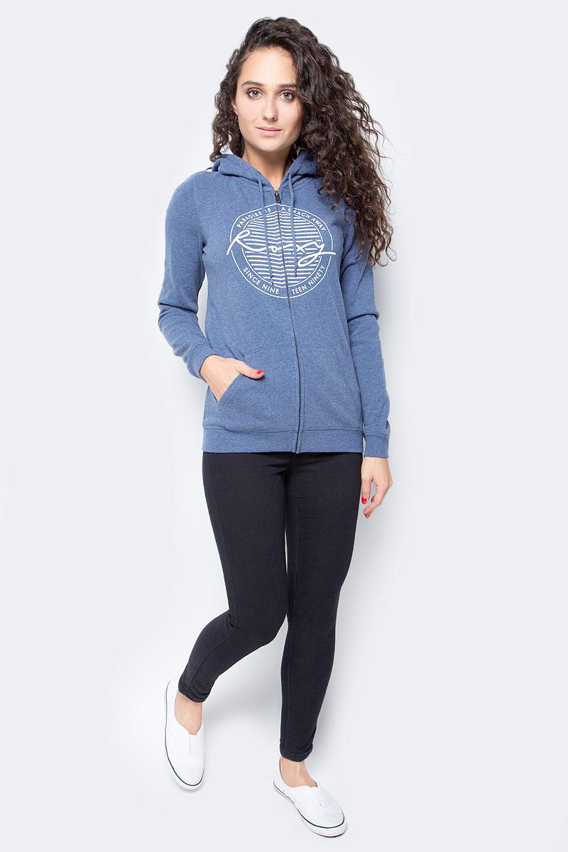 Куртка жен Roxy, цвет: серо-голубой, синий, молочный. ERJFT03594-BNDH. Размер L (46)ERJFT03594-BNDH