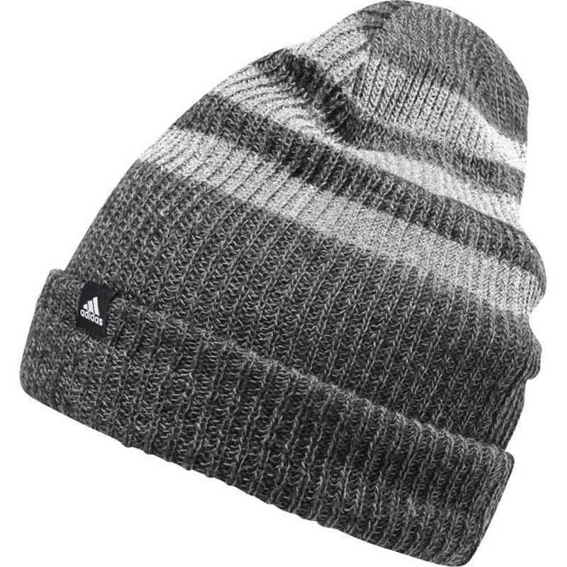 Шапка Adidas 3S Woolie, цвет: серый. BR9925. Размер 56/57BR9925Шапка утепленная взр.• Свободная вязка:• 2-цветный меланжевый эффект:• 3 полосы:• Логотип, сочетающийся по цвету:• Может трансформироваться в шапку
