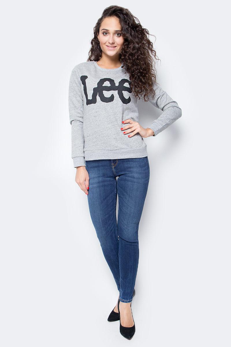 Джемпер женский Lee, цвет: серый. L53BOT37. Размер S (42)L53BOT37