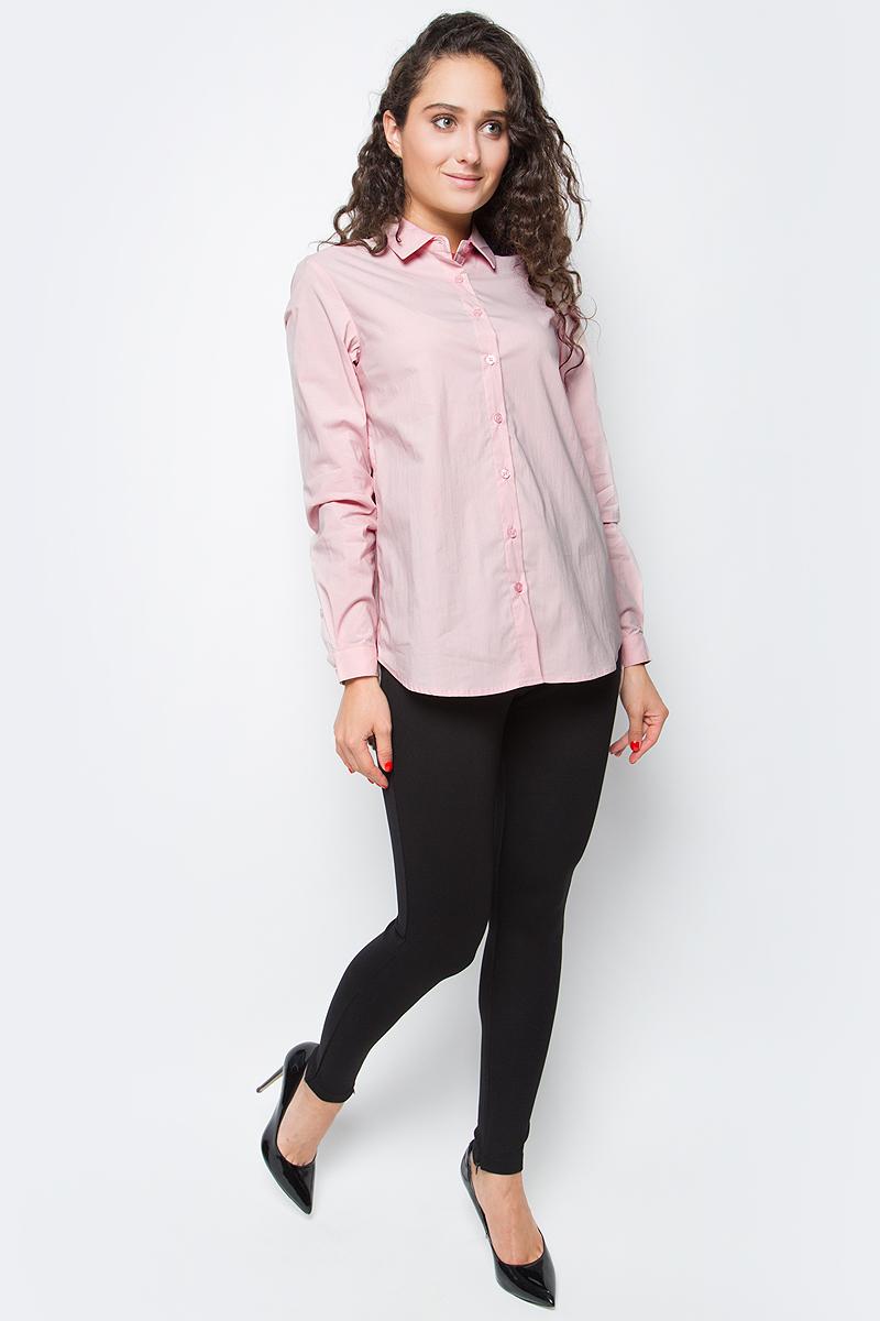 Блузка женская Baon, цвет: розовый. B177520_Dusty Flamingo. Размер M (46)B177520_Dusty FlamingoСекрет элегантного делового образа кроется в лаконичности его составляющих. Эта блузка от Baon станет отличной основой для создания делового аутфита. Изделие выполнено из полотна с легким эффектом стрейч. Блузка имеет прямой крой и удлиненную спинку. Спереди расположена застежка на пуговицы.