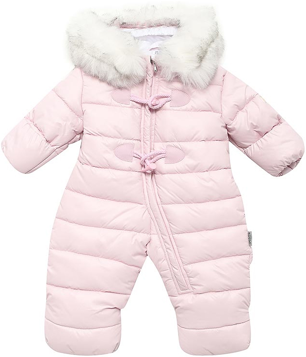 Комбинезон утепленный детский Boom!, цвет: розовый. 70500_BOM_вар.1. Размер 74, 9 мес70500_BOM_вар.1