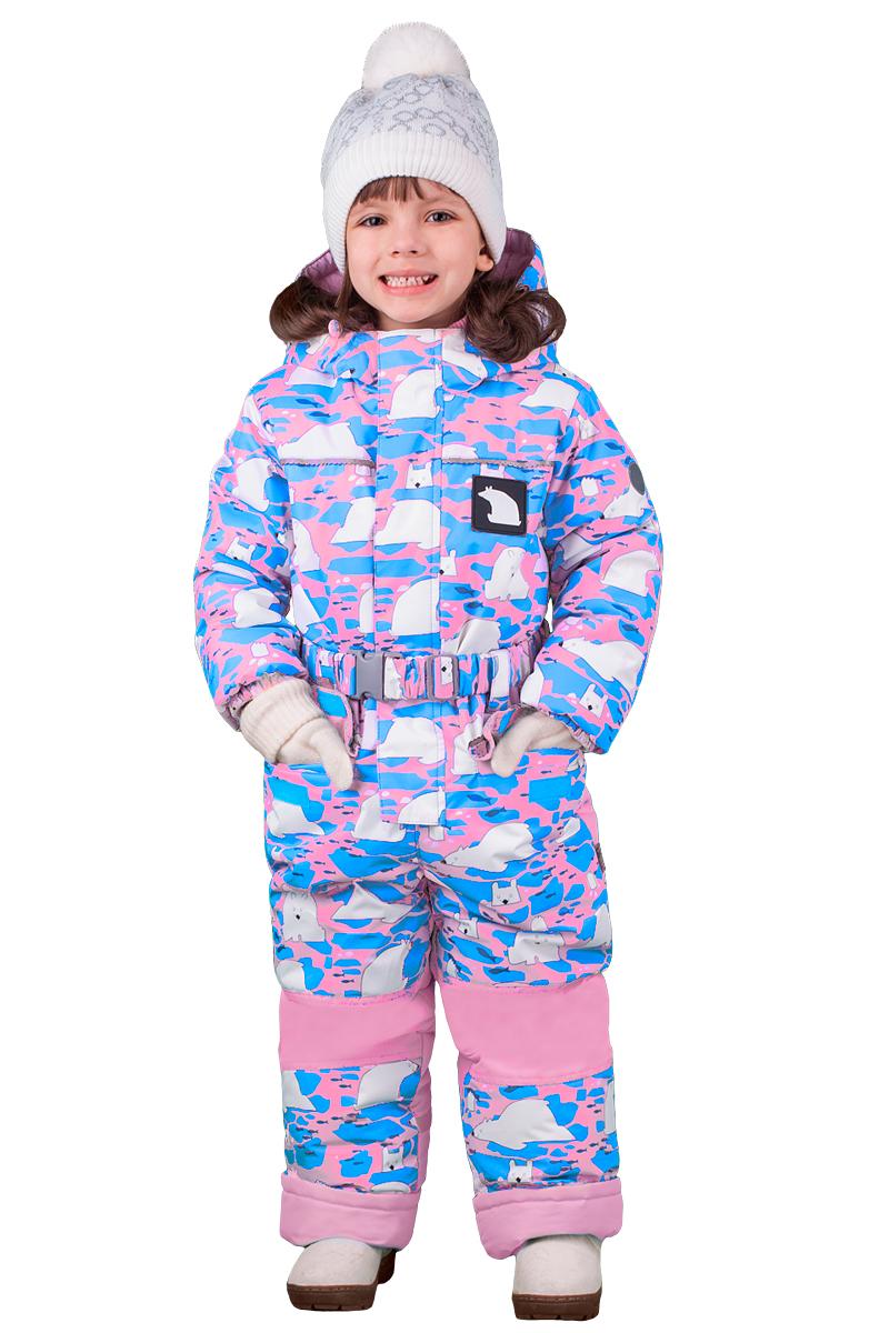 Комбинезон утепленный для девочки Boom!, цвет: розовый. 70463_BOG_вар.2. Размер 98, 3-4 года70463_BOG_вар.2
