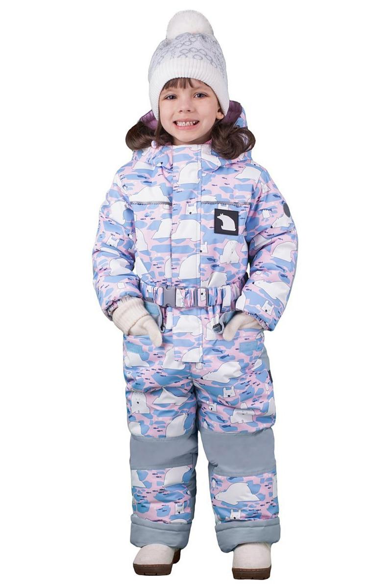 Комбинезон утепленный для девочки Boom!, цвет: серый. 70463_BOG_вар.1. Размер 128, 7-8 лет70463_BOG_вар.1