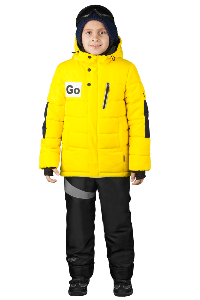 Куртка для мальчика Boom!, цвет: желтый. 70489_BOB_вар.1. Размер 98, 3-4 года70489_BOB_вар.1