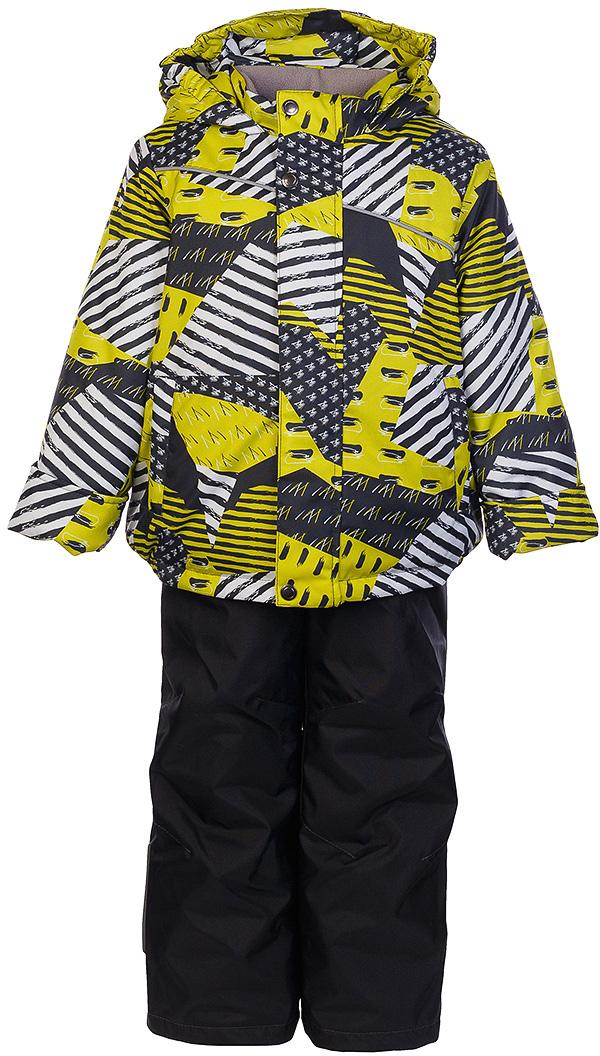 Комплект для мальчика Jicco By Oldos Кирус: куртка и полукомбинезон, цвет: графитовый, салатовый. 1J7SU08. Размер 128, 8 лет1J7SU08Комплект для мальчика Jicco By Oldos, состоящий из куртки и полукомбинезона, выполнен из полиэстера с водо-грязеотталкивающей пропиткой. Гипоаллергенный утеплитель сохраняет тепло и быстро сохнет. Подкладка-флис, в рукавах и брючинах - гладкий полиэстер. Куртка дополнена капюшоном, воротником - стойкой и двумя карманами на молниях. Изделие застегивается на молнию, имеет двойную ветрозащитную планку. Рукава с отворотом и внутренней трикотажной саморегулирующейся манжетой. Эластичная талия полукомбинезона и регулируемые подтяжки гарантируют посадку по фигуре, длинная молния впереди облегчает процесс одевания. Изделие имеет светоотражающие элементы.