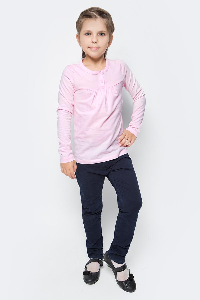 Джемпер для девочки LeadGen, цвет: розовый. G980010716-172. Размер 176G980010716-172Джемпер для девочки LeadGen выполнен из эластичного хлопкового трикотажа. Модель с длинными рукавами и круглым вырезом горловины на груди застегивается на кнопки.