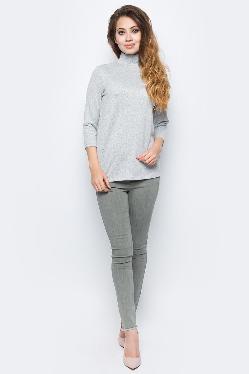 Джемпер жен Sela, цвет: серый меланж. Tt-111/1329-7321. Размер XL (50)Tt-111/1329-7321