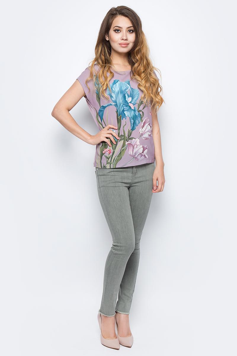 Джемпер жен Sela, цвет: серо-фиолетовый. Tcs-111/1144-7341. Размер 48Tcs-111/1144-7341