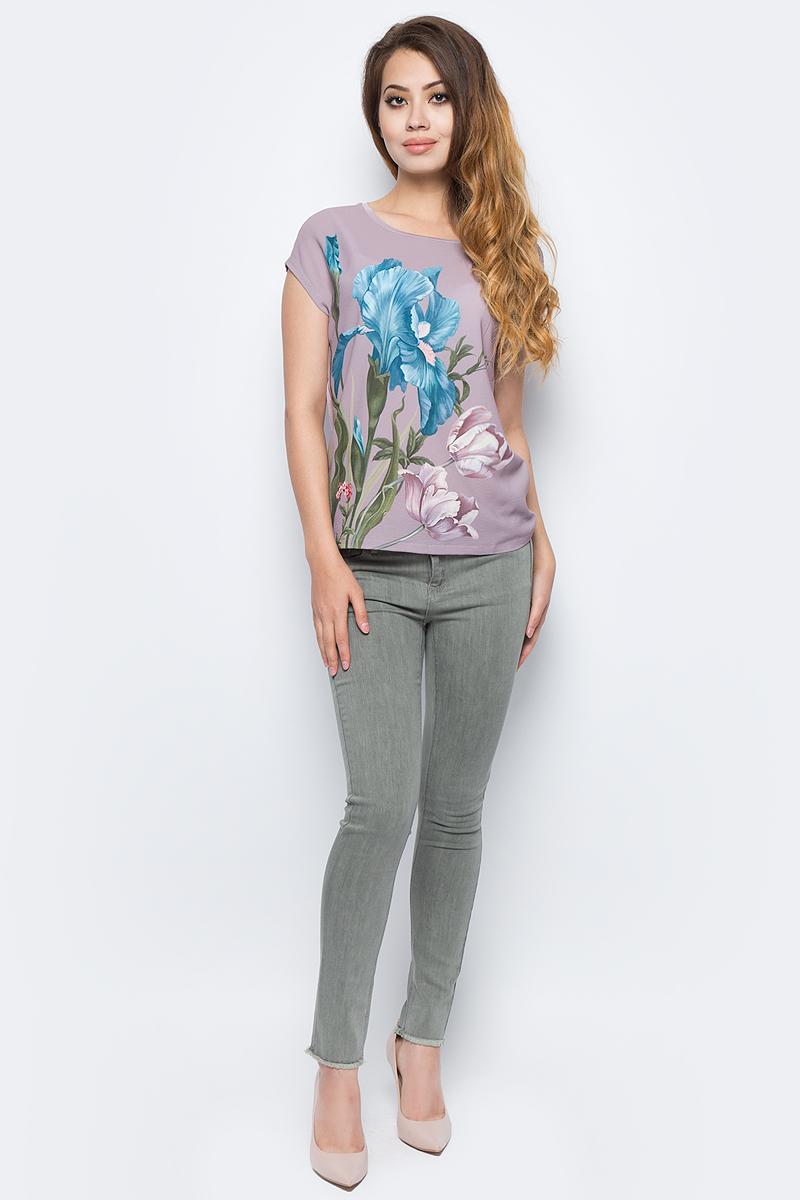 Брюки жен Sela, цвет: серый хаки. PJ-335/780-7311. Размер 29-32 (46-32)PJ-335/780-7311