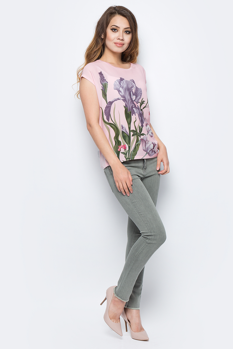 Джемпер жен Sela, цвет: пыльно-розовый. Tcs-111/1144-7341. Размер 44Tcs-111/1144-7341